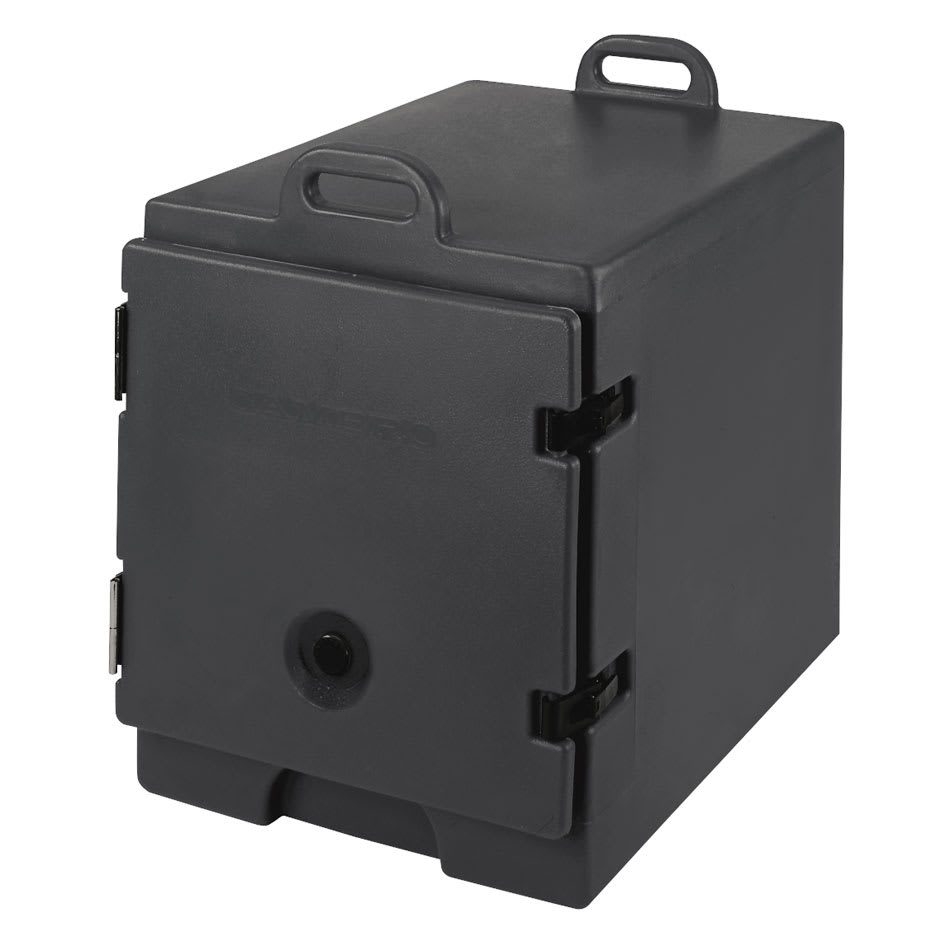 """Cambro 300MPC110 Camcarrier Food Pan Carrier - 12x20"""" Pan, Front-Loading, Black"""