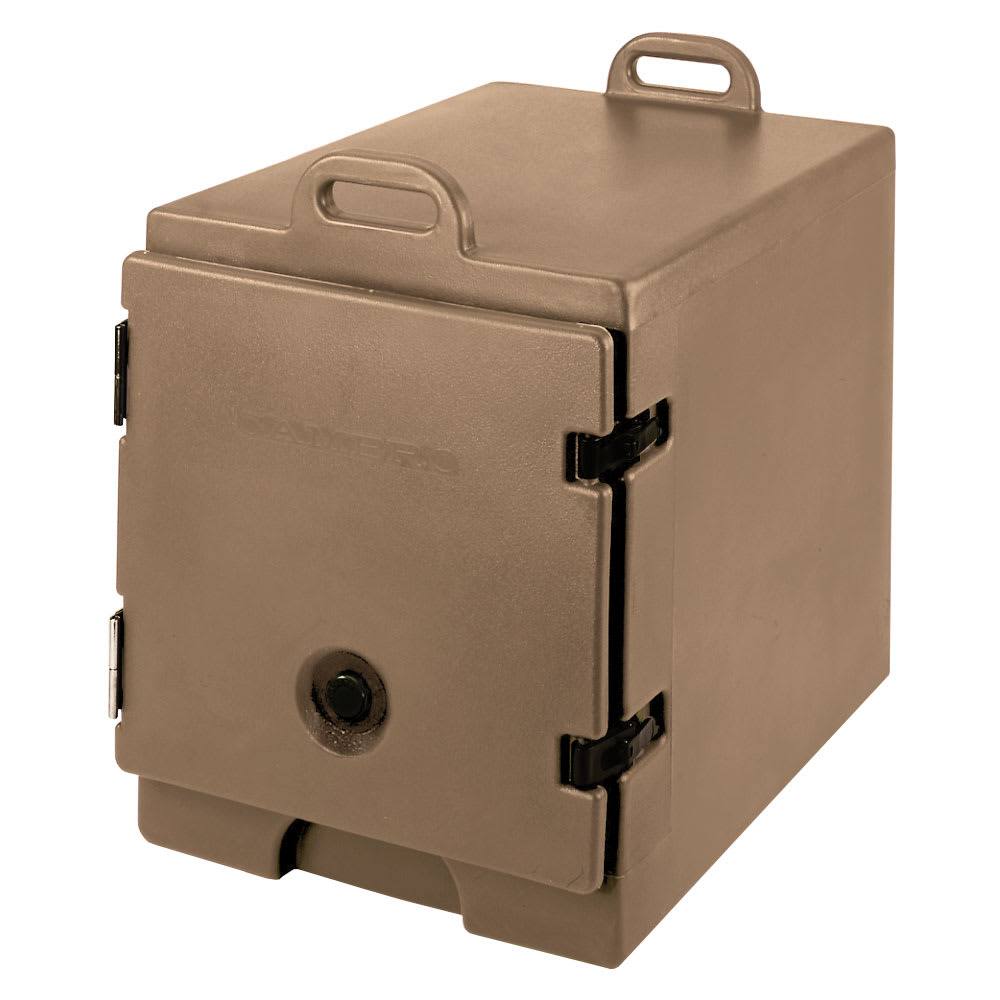 "Cambro 300MPC157 Camcarrier Food Pan Carrier - 12x20"" Pan, Front-Loading, Coffee Beige"