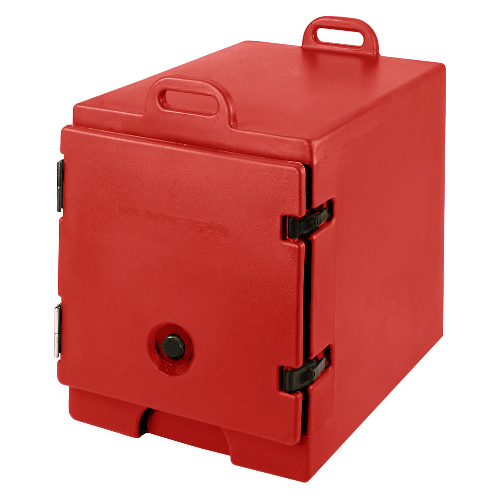 """Cambro 300MPC158 Camcarrier Food Pan Carrier - 12x20"""" Pan, Front-Loading, Hot Red"""