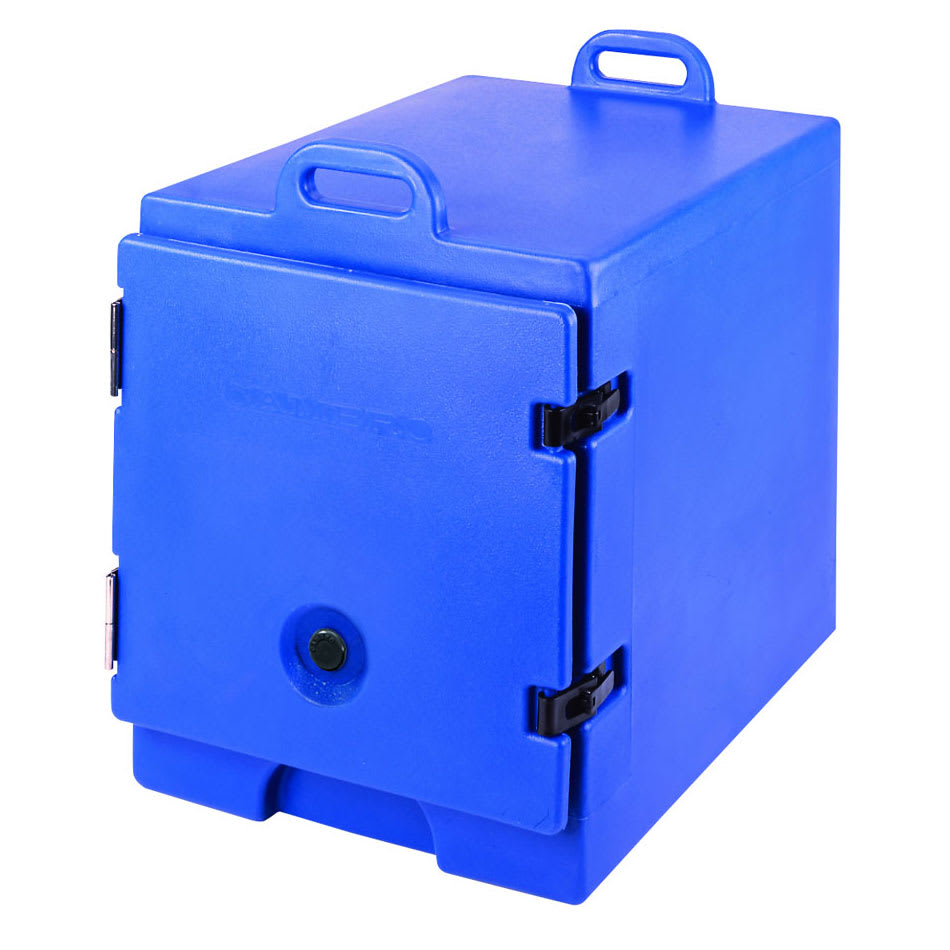 """Cambro 300MPC186 Camcarrier Food Pan Carrier - 12x20"""" Pan, Front-Loading, Navy Blue"""