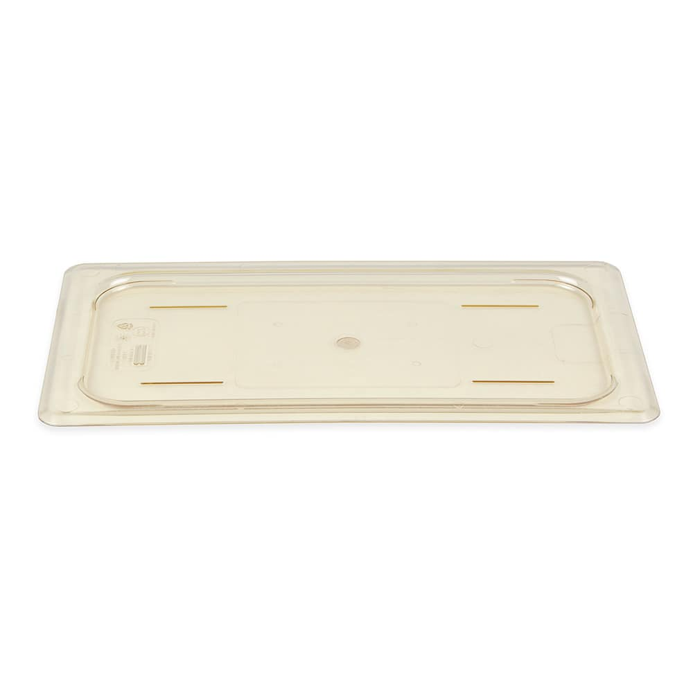 Cambro 30HPC150 H-Pan Food Pan Cover - 1/3 Size, Non-Stick, Flat, Amber