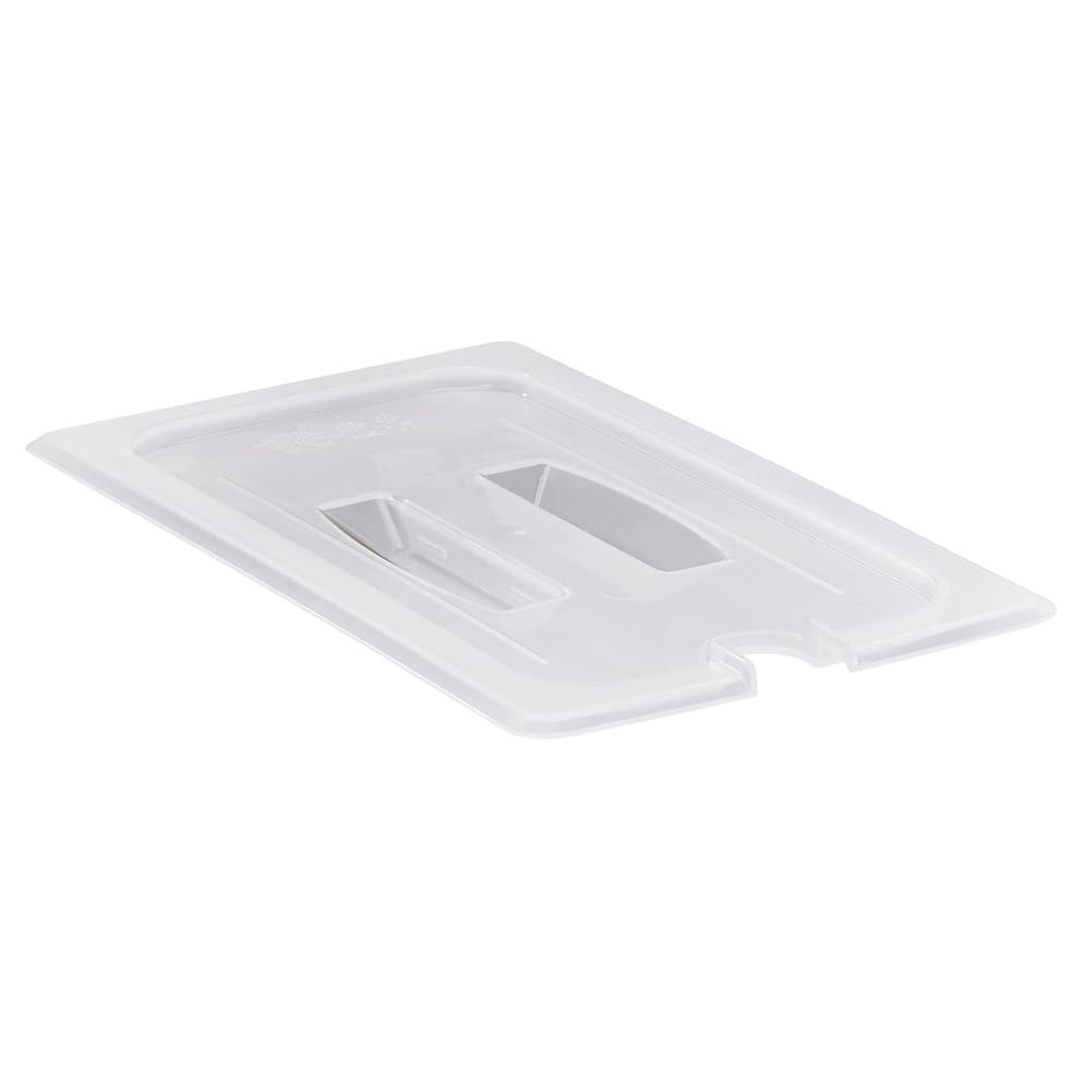 Cambro 30PPCHN190 Food Pan Cover with Handle - 1/3 Size, Notched, Translucent