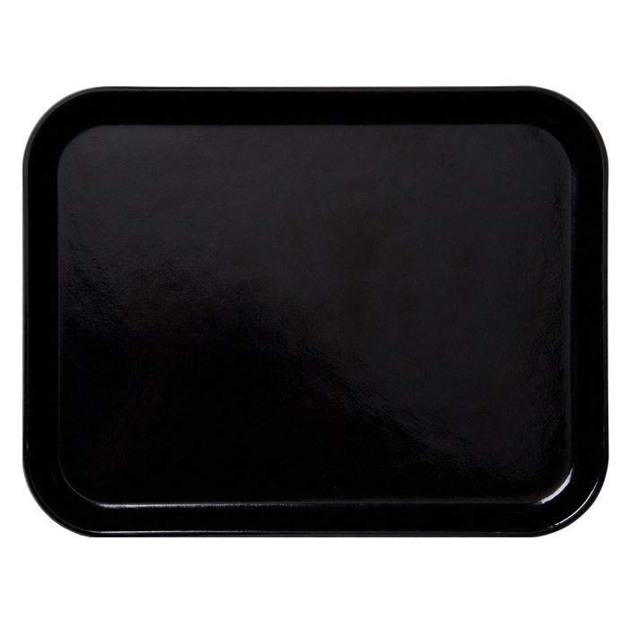 "Cambro 3253CL110 Rectangular Camlite Tray - 12 3/4x21"" Black"