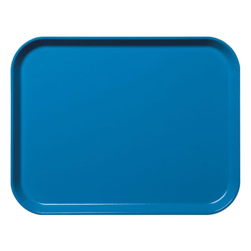 "Cambro 3253CL142 Fiberglass Camlite® Cafeteria Tray - 20.8""L x 12.75""W, Blue"