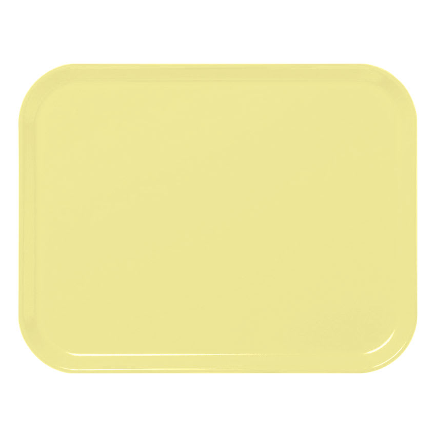 "Cambro 3253CL145 Rectangular Camlite Tray - 12-3/4x21"" Yellow"
