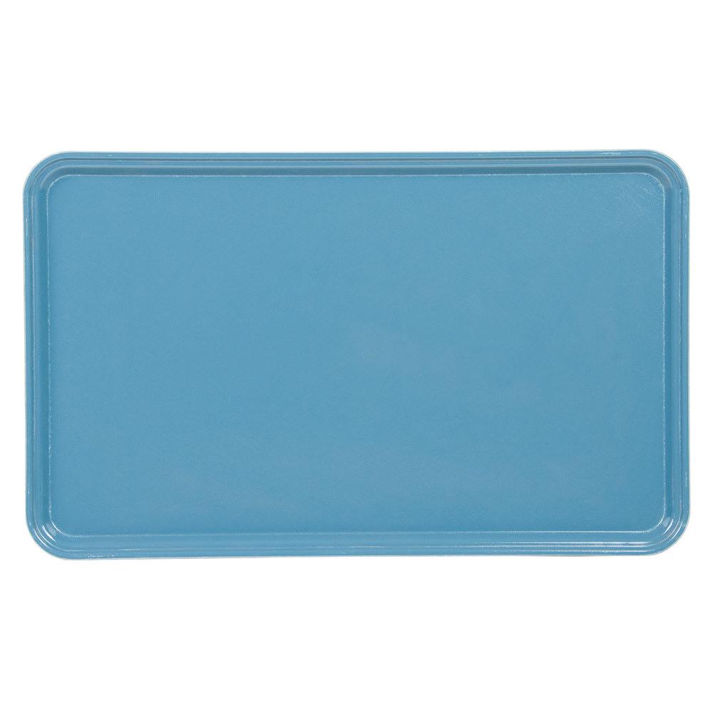 "Cambro 3253CL674 Fiberglass Camlite® Cafeteria Tray - 20.8""L x 12.75""W, Steel Blue"