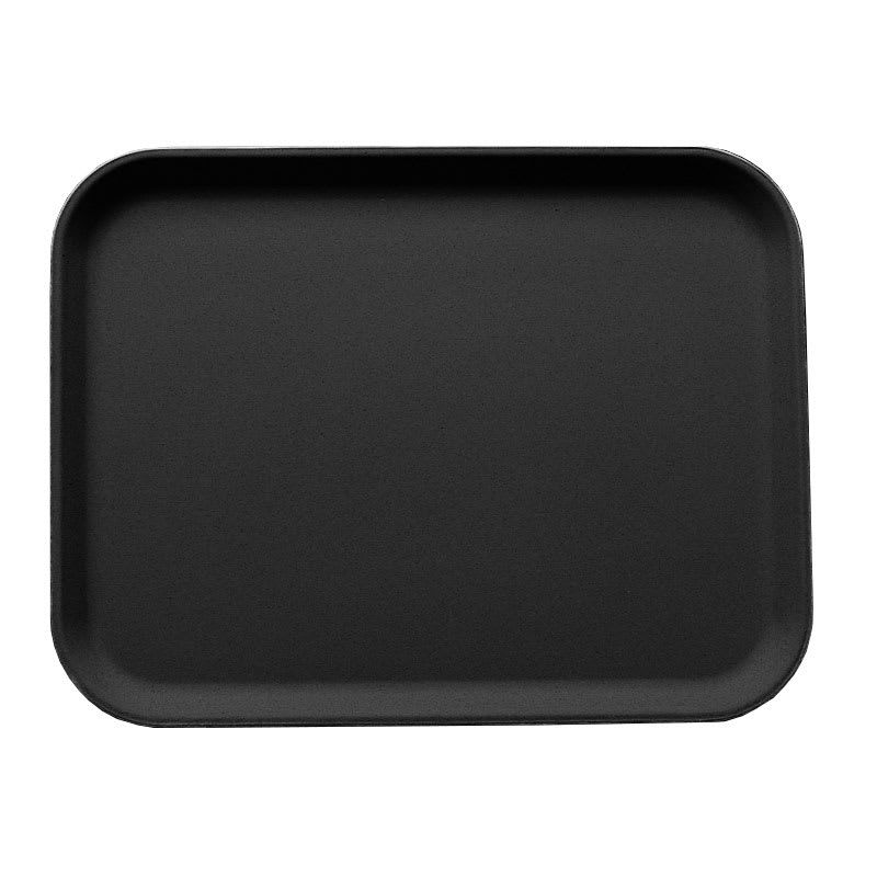 "Cambro 3253CT110 Rectangular Camtread Serving Tray - 12 3/4x21"" Black Satin"