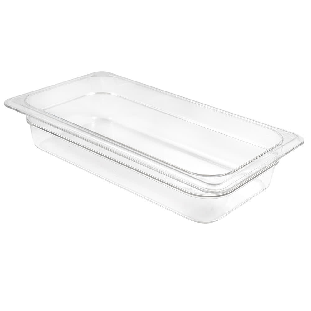 "Cambro 32CW135 Camwear Food Pan - 1/3 Size, 2-1/2""D, Clear"