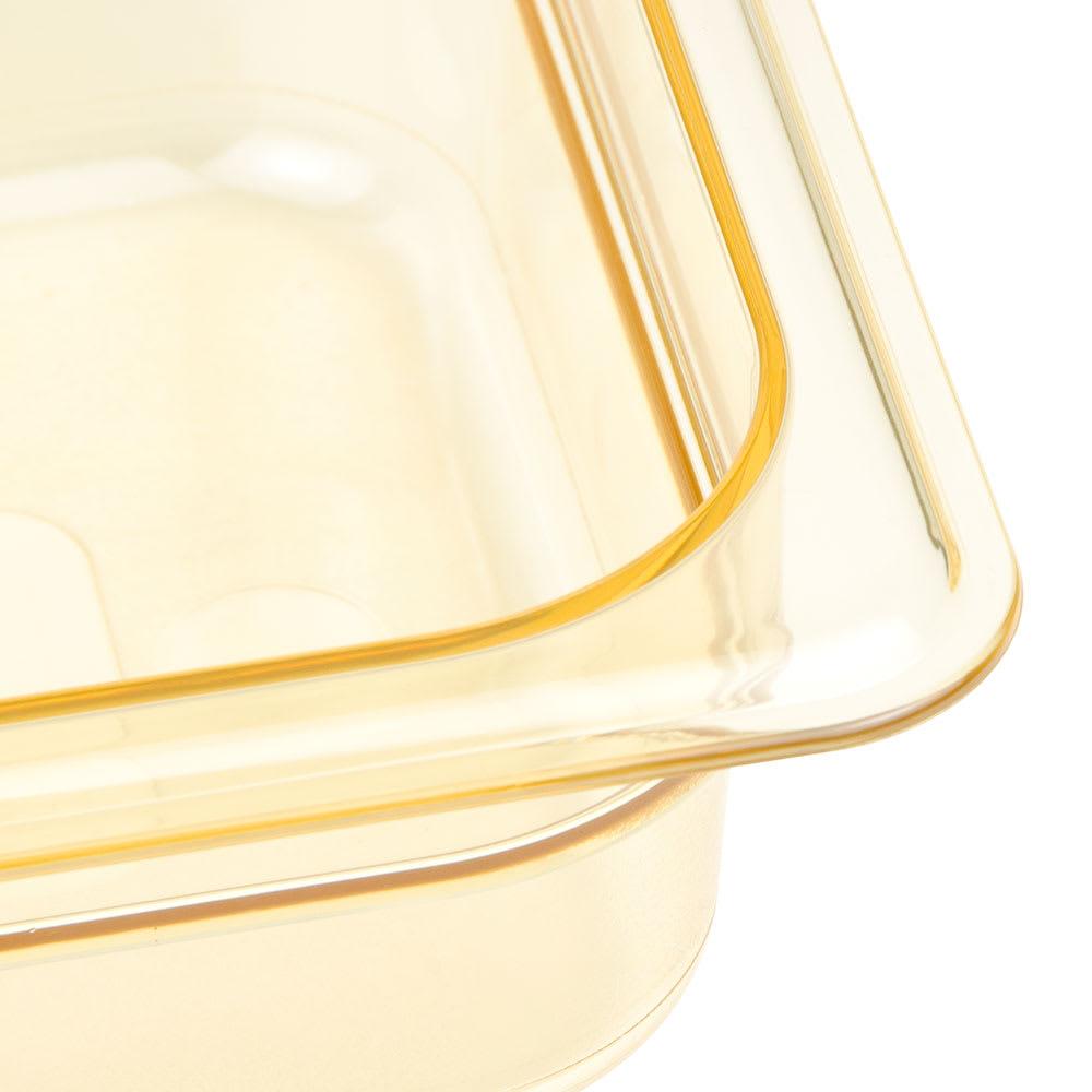 """Cambro 32HP150 H-Pan Hot Food Pan - 1/3 Size, 2-1/2""""D, Non-Stick, Amber"""
