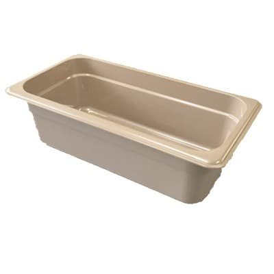 "Cambro 32HP772 H-Pan Hot Food Pan - 1/3 Size, 2 1/2""D, Non-Stick, Amber"