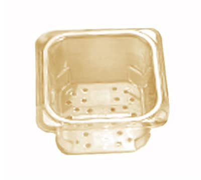 """Cambro 33CLRHP150 H-Pan Colander - 1/3 Size, 3""""D, Amber"""