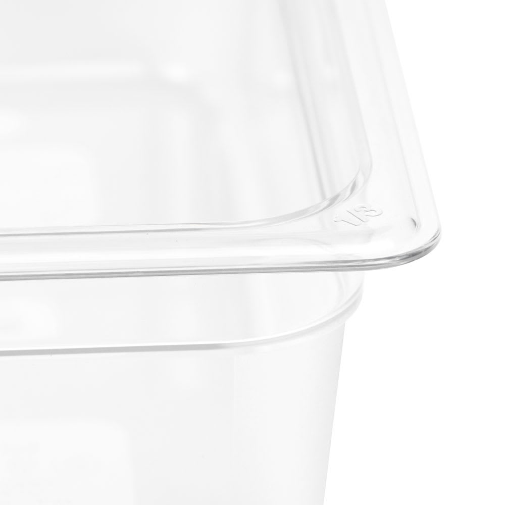 "Cambro 34CW135 Camwear Food Pan - 1/3 Size, 4""D, Clear"