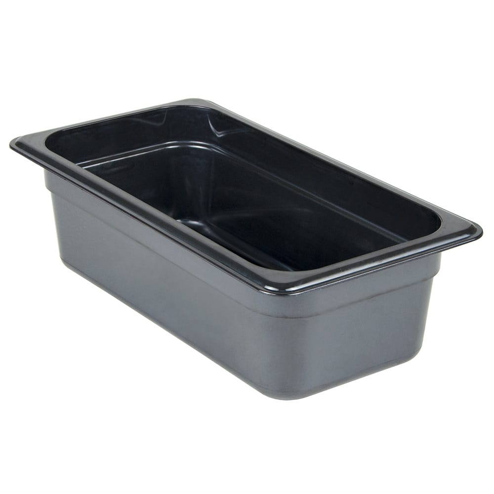 "Cambro 34HP771 High Heat 1/3 Size Food Pan - 4""D, Onyx"