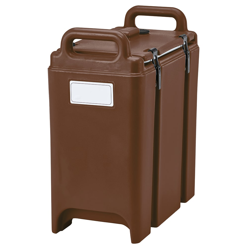 Cambro 350LCD131 3-3/8-gal Camtainer Soup Carrier - Insulated, Dark Brown
