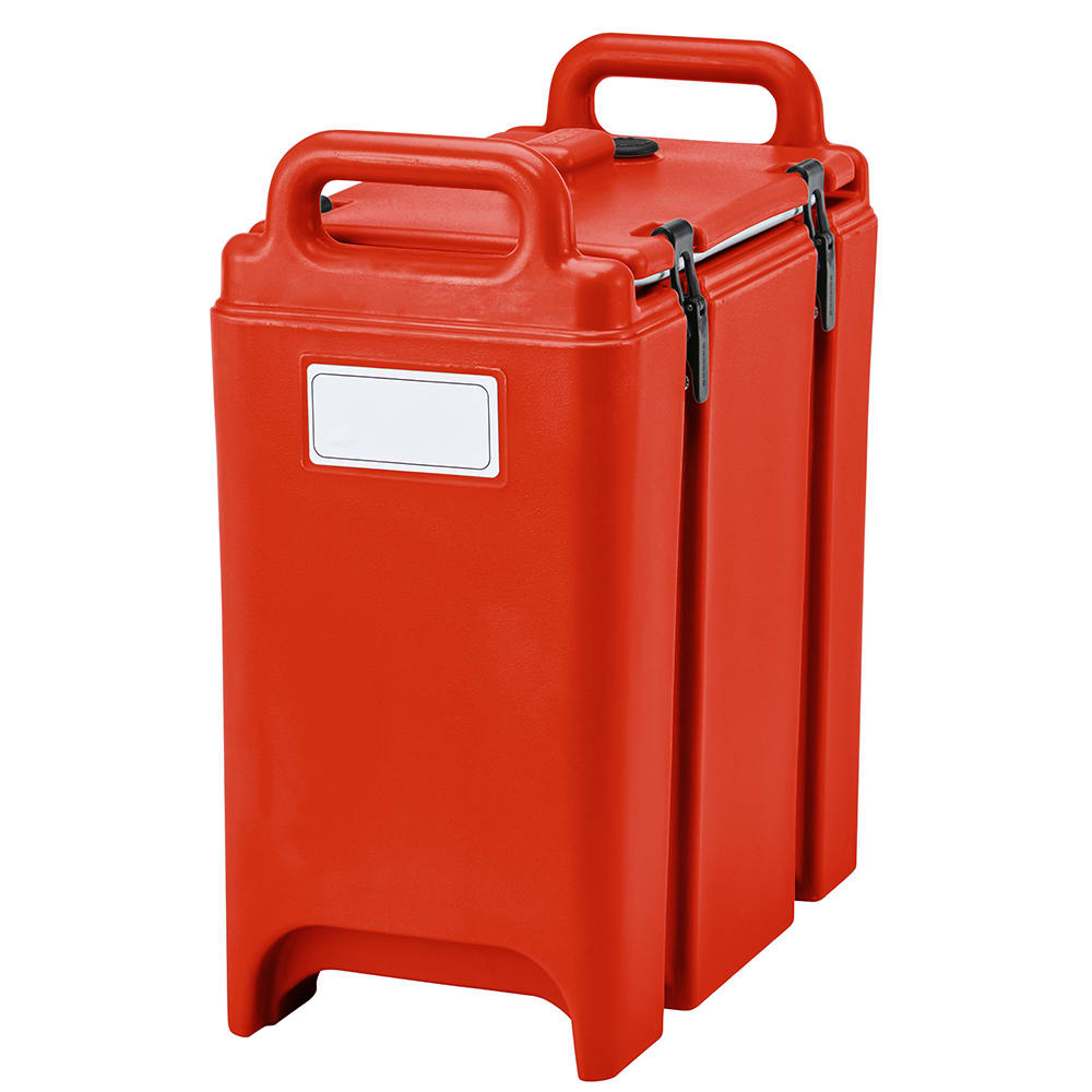 Cambro 350LCD158 3 3/8 gal Camtainer Soup Carrier - Insulated, Hot Red