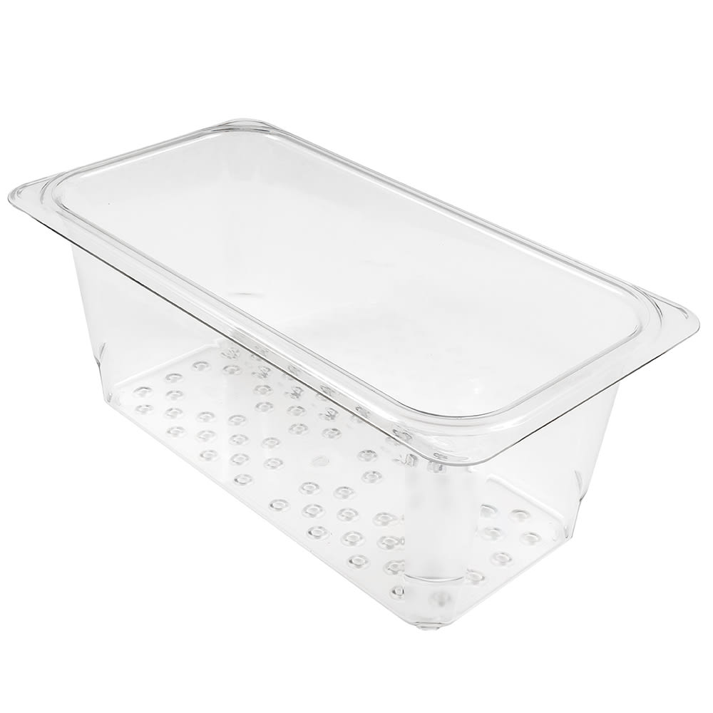 "Cambro 35CLRCW135 Camwear Colander - 1/3 Size, 5""D, Clear"