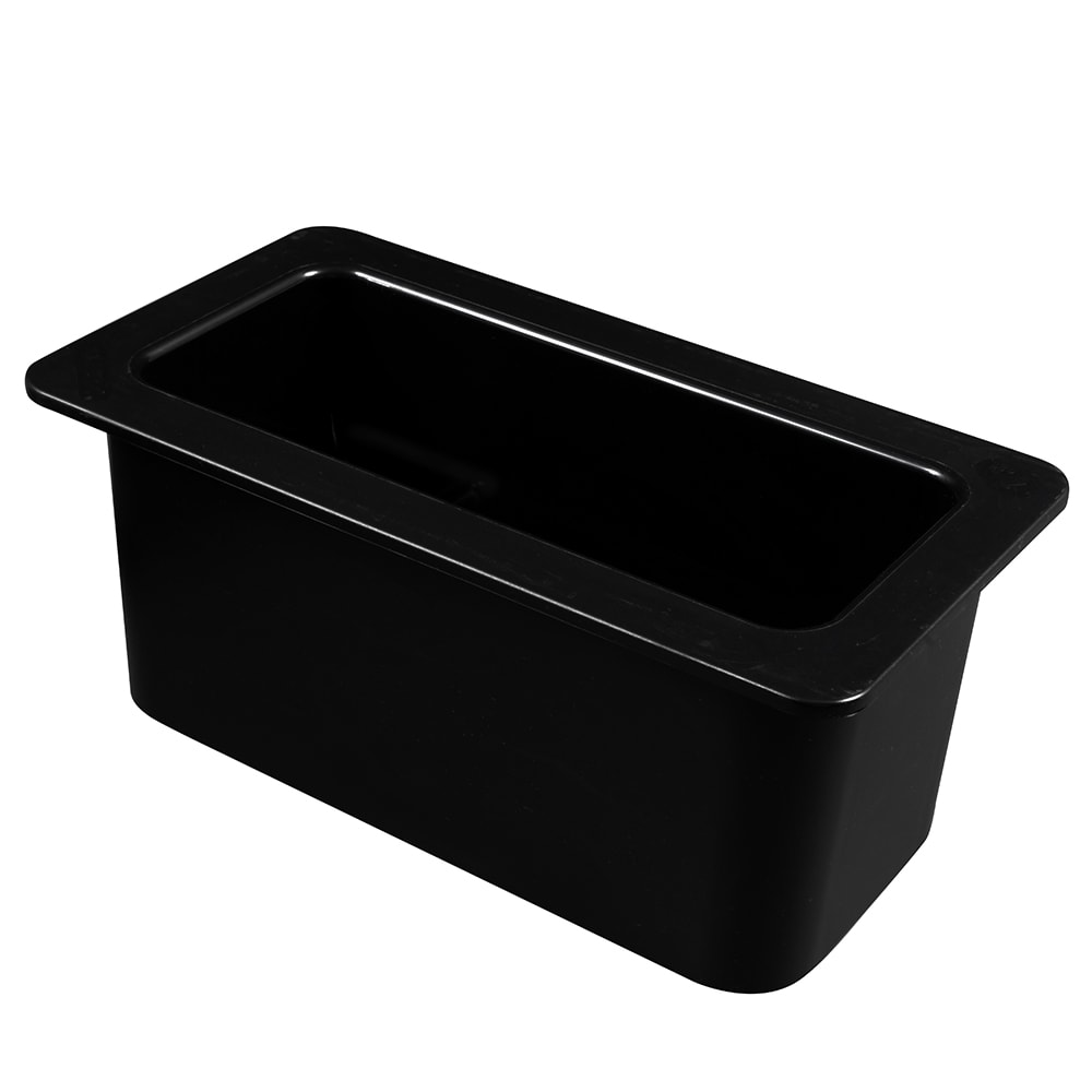 "Cambro 36CF110 ColdFest Food Pan - 1/3 Size, 6""D, Black"
