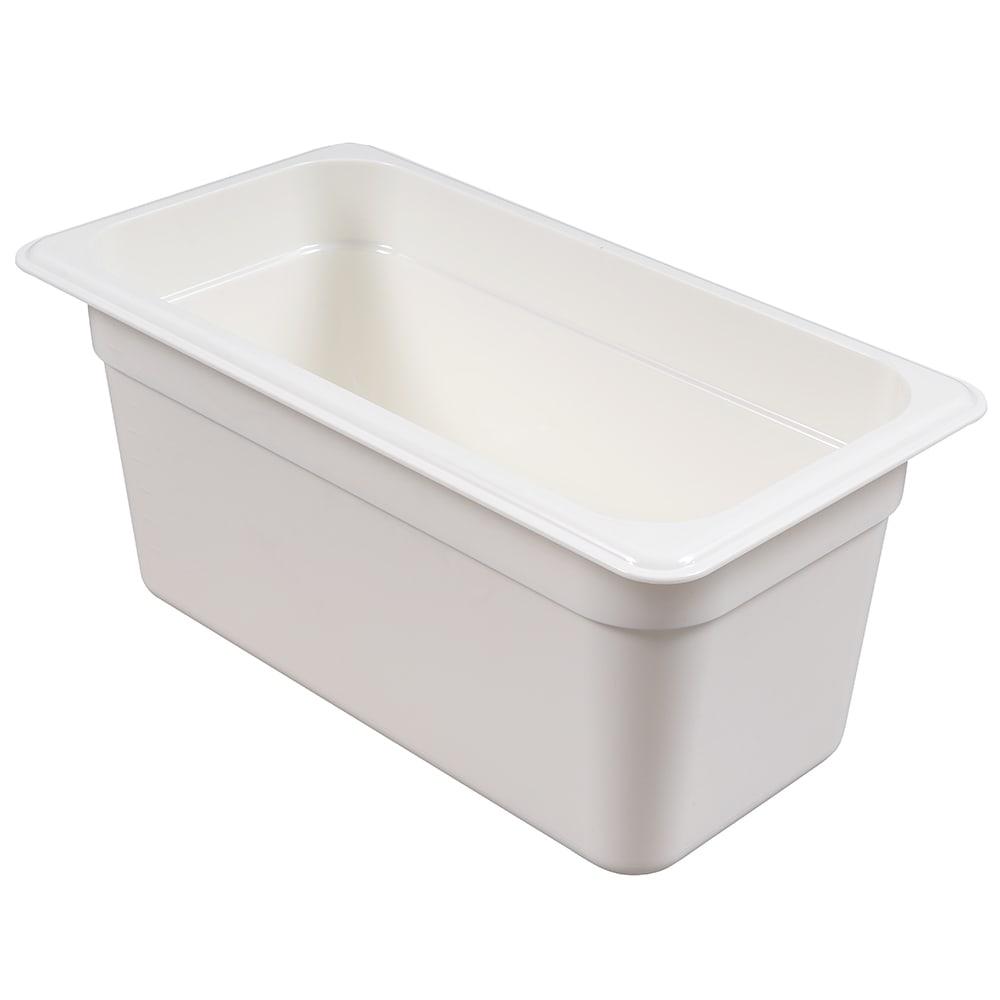 "Cambro 36CW148 Camwear Food Pan - 1/3 Size, 6""D, White"