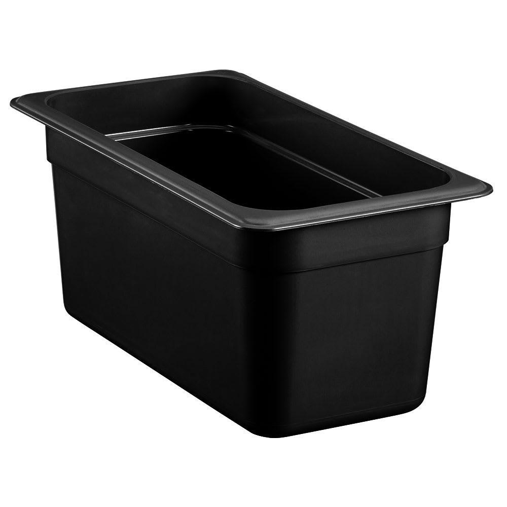"Cambro 36HP771 High Heat 1/3 Size Food Pan - 6""D, Onyx"