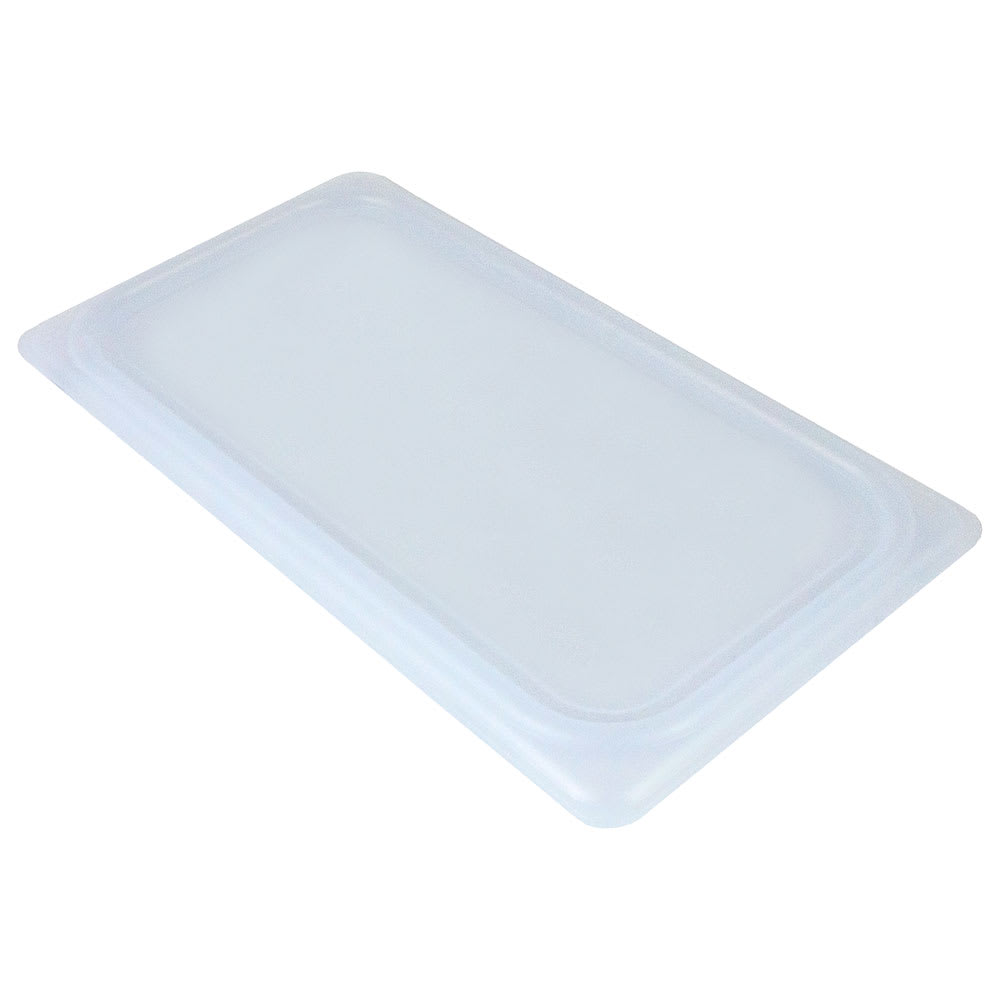 Cambro 40PPCWSC438 1/4-Size Food Pan Seal Cover - Translucent, Polypropylene, Blue, NSF