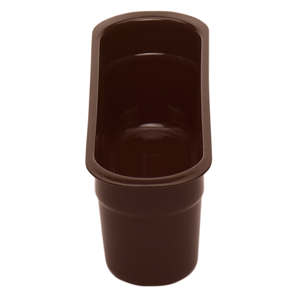 "Cambro 415CBP131 Cutlery Insert Box - 4-7/16x14-3/16x4-1/8"" Hi-Gloss Plastic, Dark Brown"