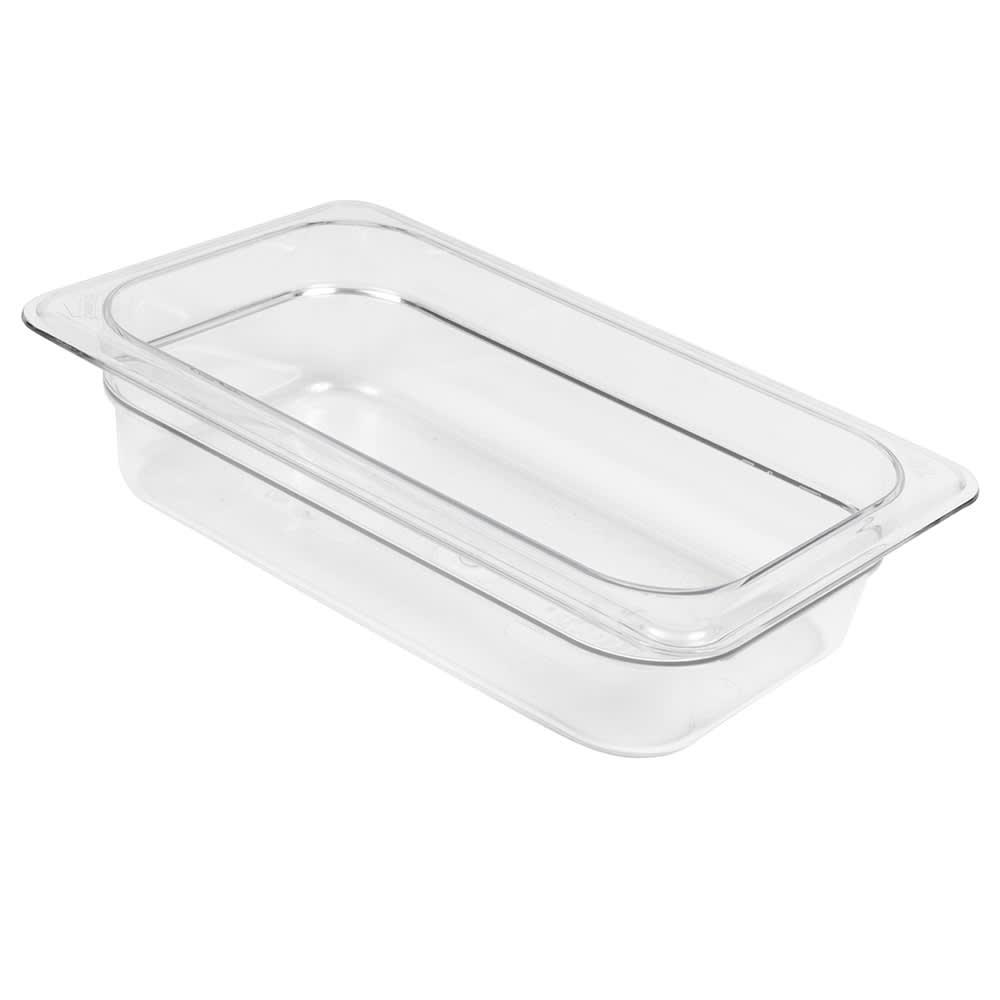 "Cambro 42CW135 Camwear Food Pan - 1/4 Size, 2-1/2""D, Clear"