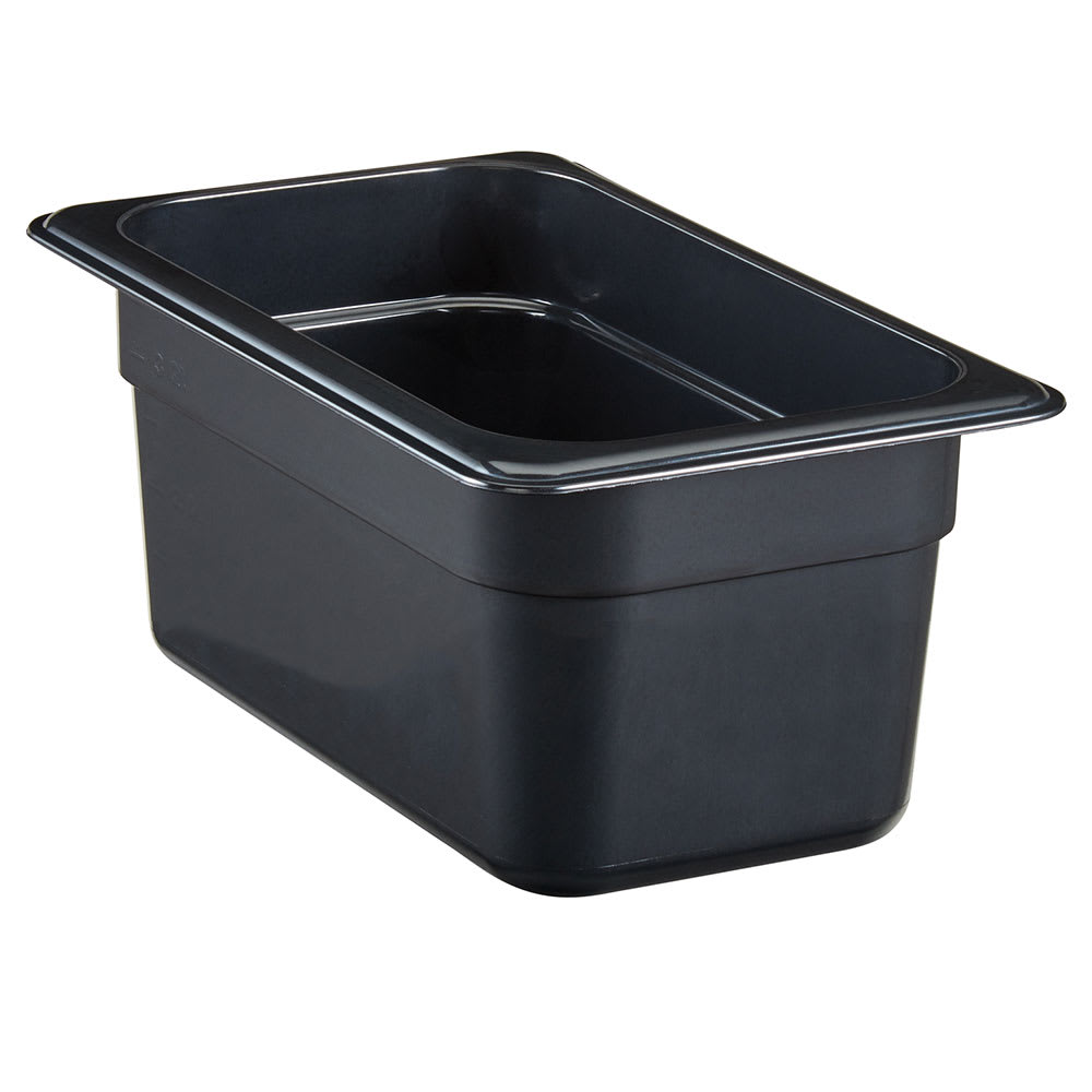 "Cambro 44HP771 High Heat 1/4 Size Food Pan - 4""D, Onyx"