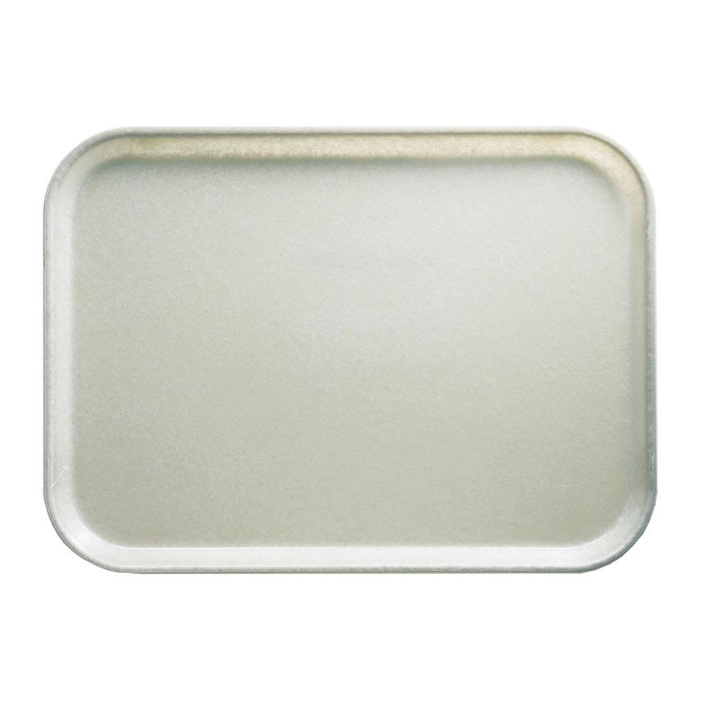 "Cambro 46101 Fiberglass Camtray® Cafeteria Tray - 6""L x 4.25""W, Antique Parchment"