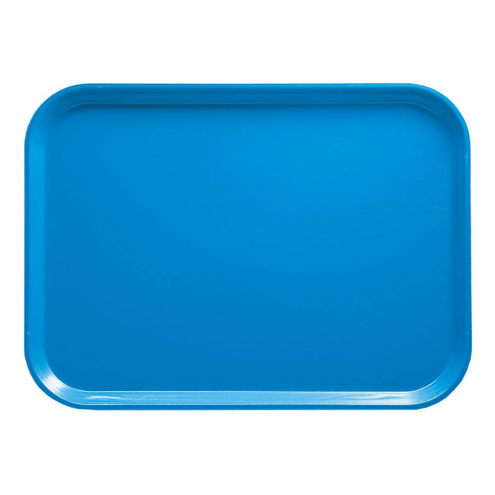 "Cambro 46105 Fiberglass Camtray® Cafeteria Tray - 6""L x 4.25""W, Horizon Blue"