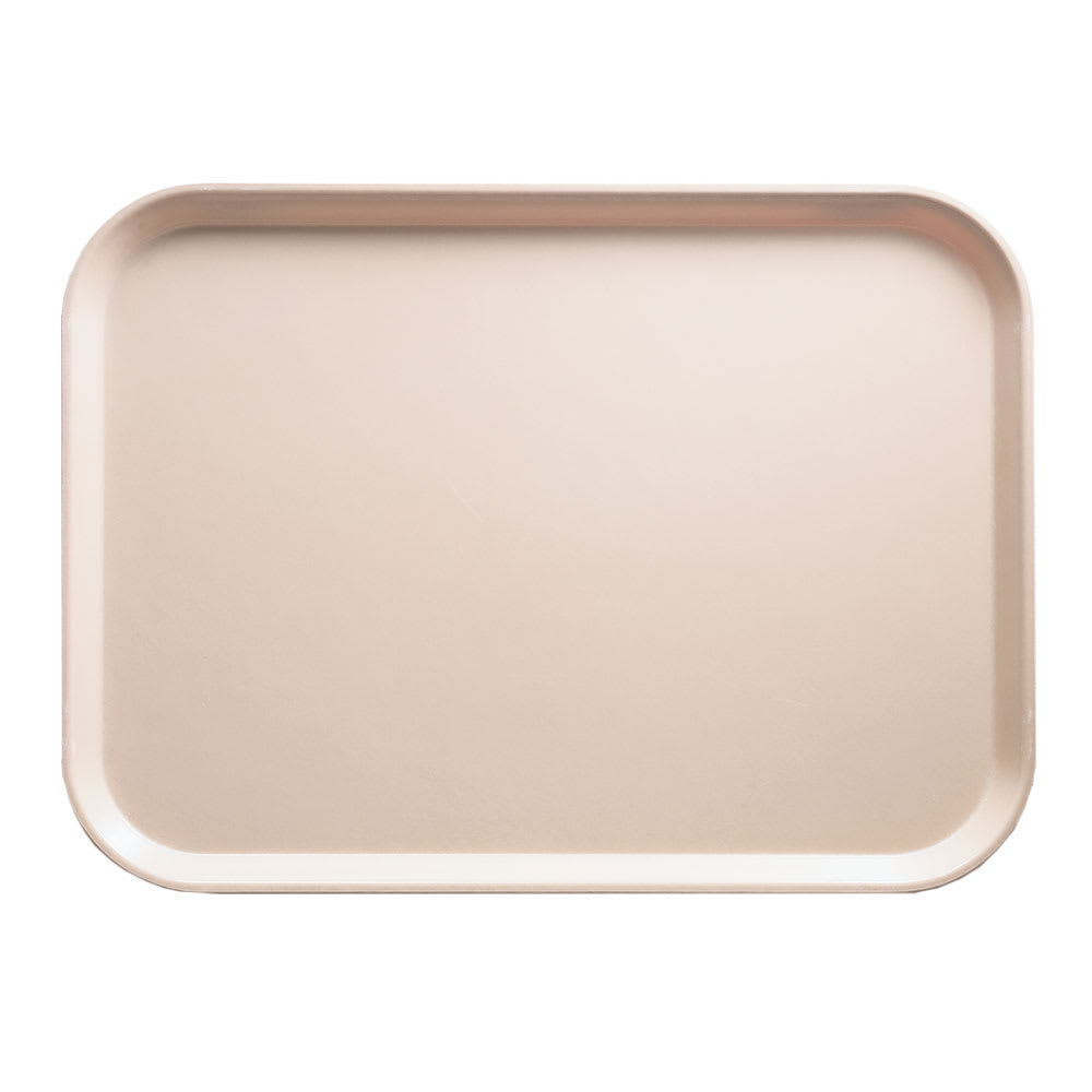 "Cambro 46106 Fiberglass Camtray® Cafeteria Tray - 6""L x 4.25""W, Light Peach"