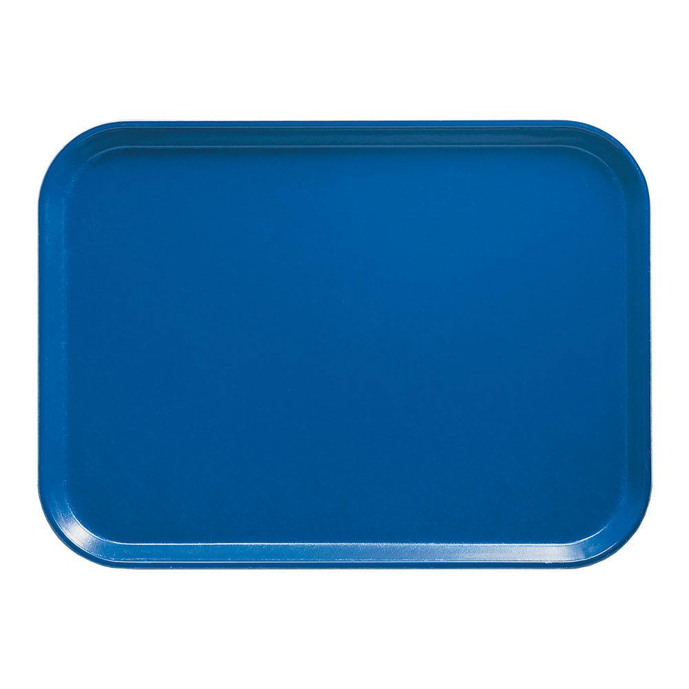 "Cambro 46123 Fiberglass Camtray® Cafeteria Tray - 6""L x 4.25""W, Amazon Blue"