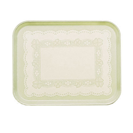 "Cambro 46241 Fiberglass Camtray® Cafeteria Tray - 6""L x 4.25""W, Doily Antique Parchment"