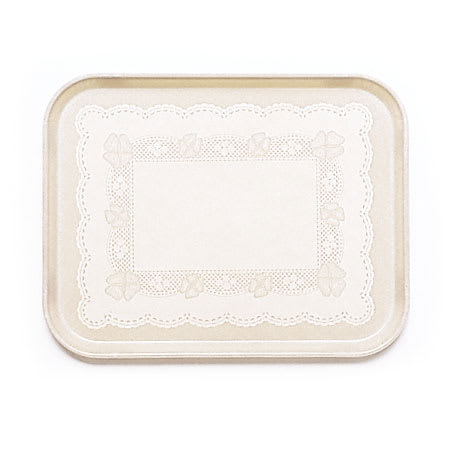 "Cambro 46246 Rectangular Camtray - 4-1/4 x 6"" Doily Light Peach"