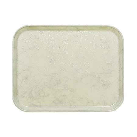 """Cambro 46531 Rectangular Camtray - 4 1/4 x 6"""" Galaxy Antique Parchment Silver"""
