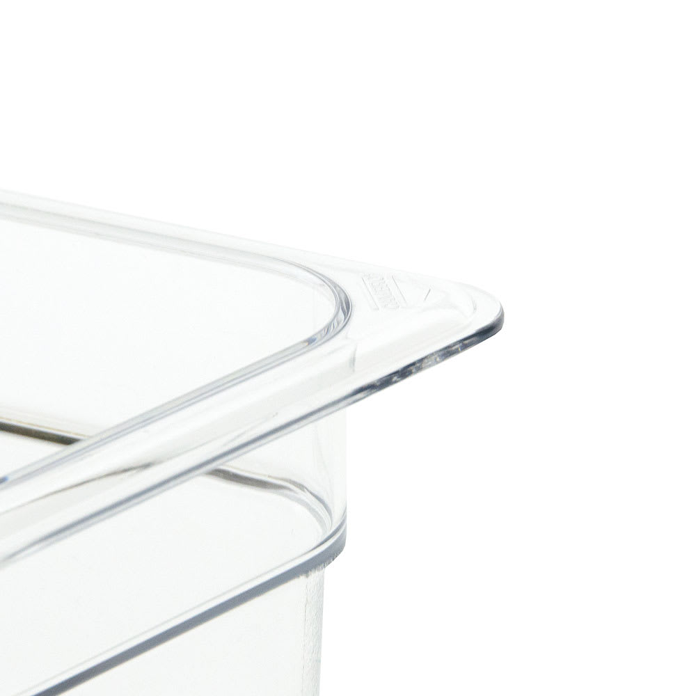 "Cambro 46CW135 Camwear Food Pan - 1/4 Size, 6""D, Clear"