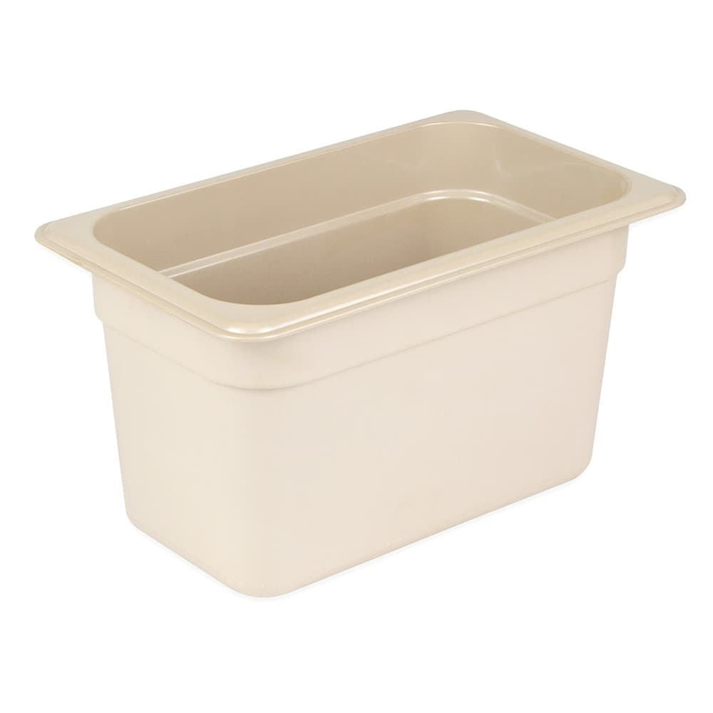 "Cambro 46HP772 X-Pan Hot Food Pan - 1/4 Size, 6""D, Non-Stick, Sandstone"