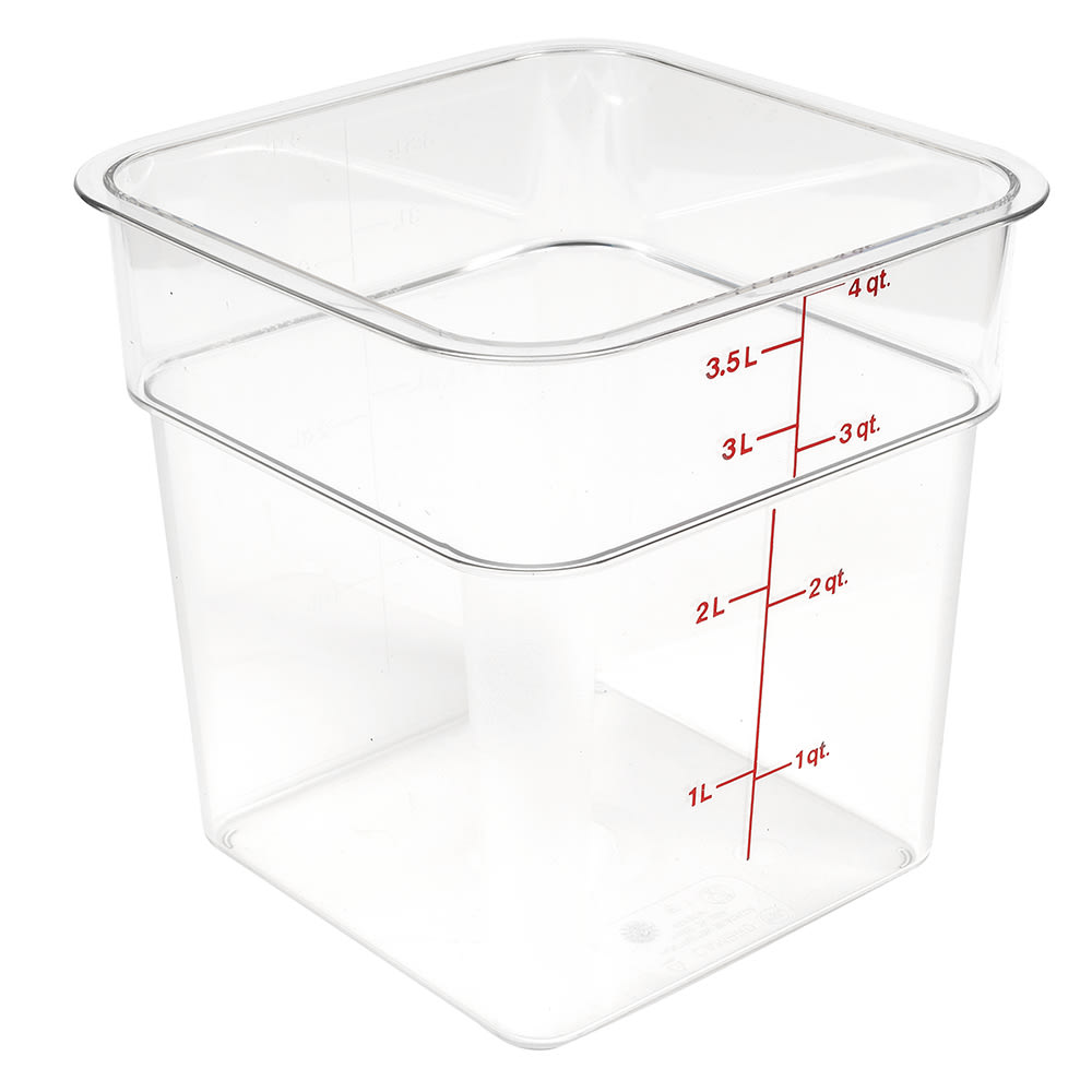 Cambro 4SFSCW135 CamSquare® Food Container w/ 4 qt Capacity, Polycarbonate, Clear