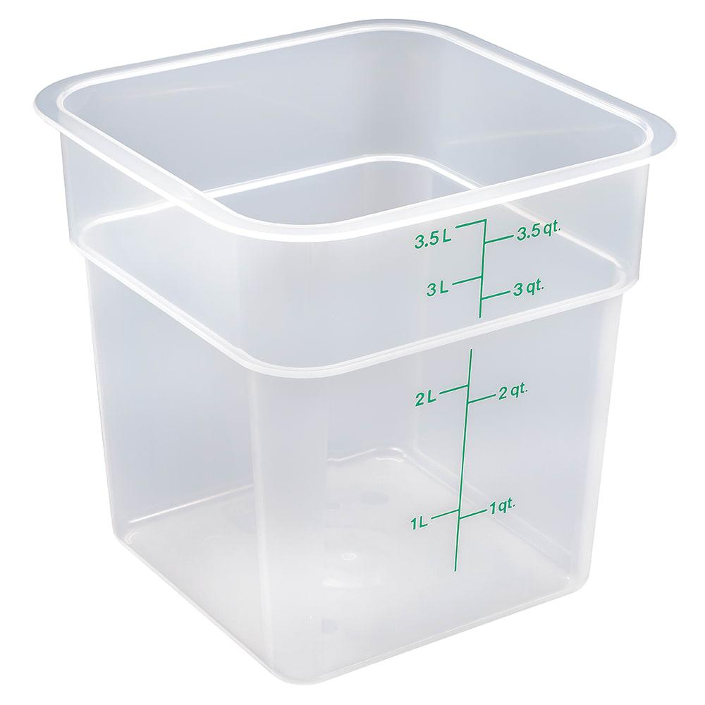 Cambro 4SFSPP190 CamSquare® Food Container w/ 4-qt Capacity, Polypropylene, Translucent