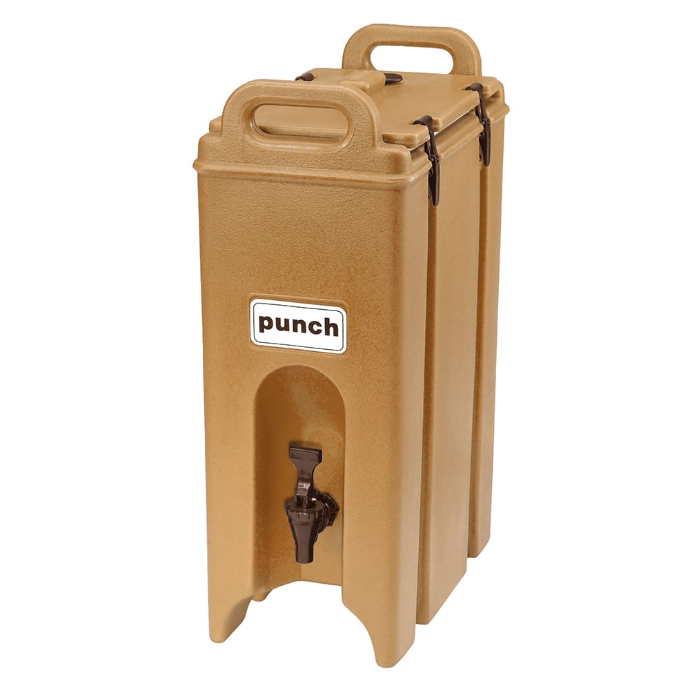 Cambro 500LCD157 5-gal Camtainer Beverage Carrier - Insulated, Coffee Beige