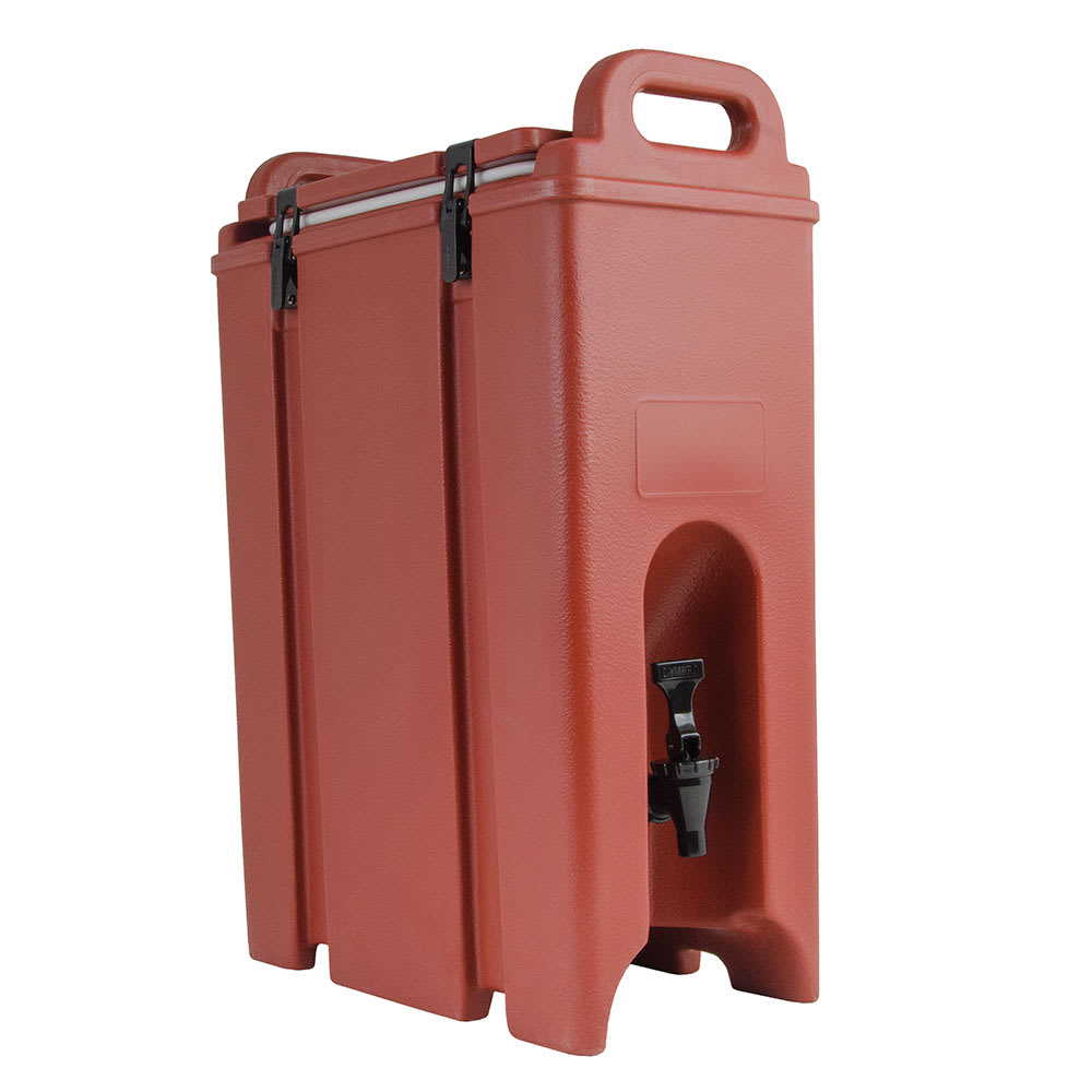 Cambro 500LCD402 5 gal Camtainer Beverage Carrier - Insulated, Brick Red