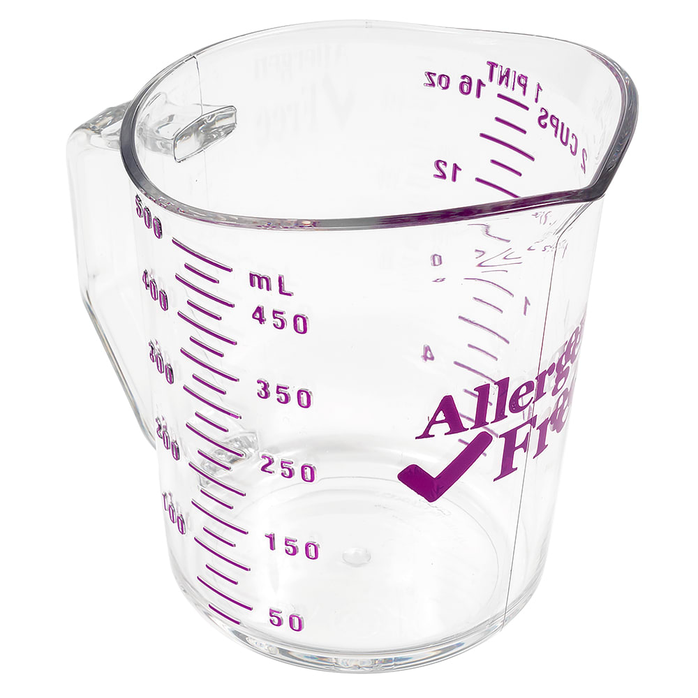 Cambro 50MCCW441 Measuring Cup w/ 1-Cup Capacity, Allergen-Free, Polycarbonate, Clear