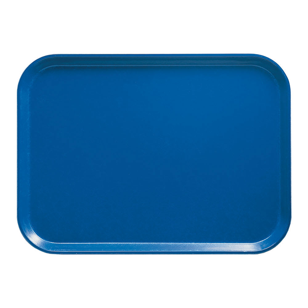 "Cambro 57123 Fiberglass Camtray® Cafeteria Tray - 6.9""L x 4.9""W, Amazon Blue"