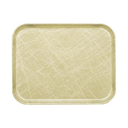 "Cambro 57214 Fiberglass Camtray® Cafeteria Tray - 6.9""L x 4.9""W, Abstract Tan"