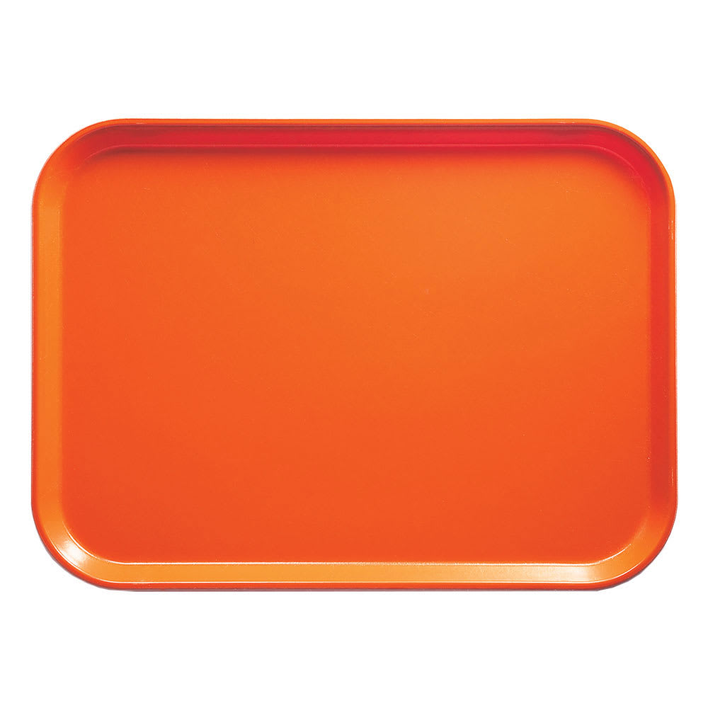 "Cambro 57220 Rectangular Camtray - 5x7"" Citrus Orange"