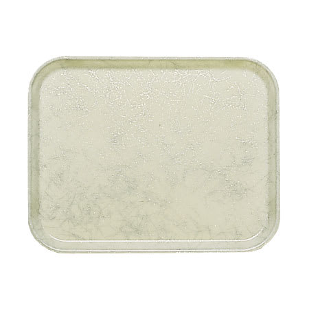 "Cambro 57531 Fiberglass Camtray® Cafeteria Tray - 6.9""L x 4.9""W - Galaxy Antique Parchment Silver"