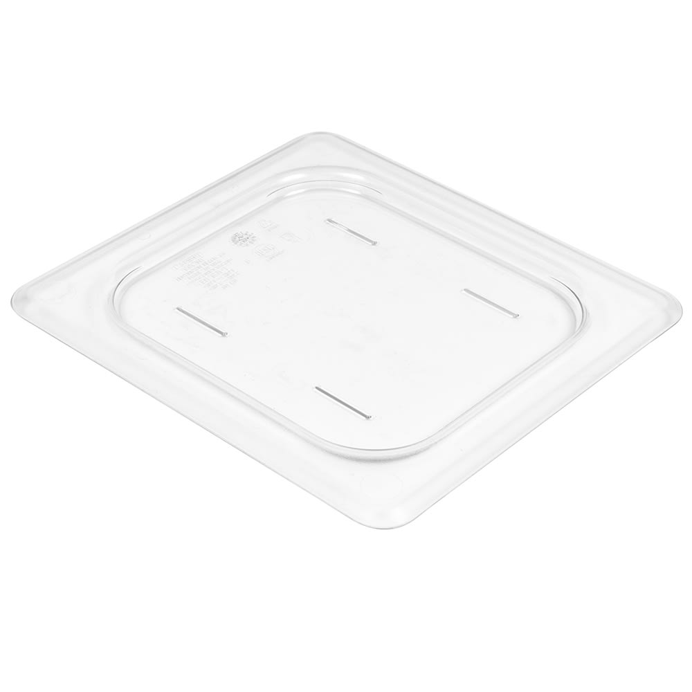 Cambro 60CWC135 Camwear Food Pan Cover - 1/6 Size, Flat, Clear