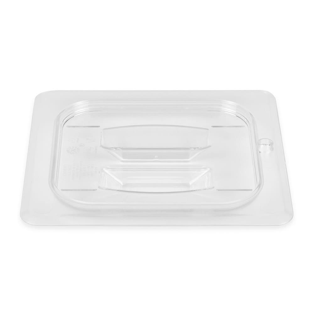 Cambro 60CWCH135 Camwear® 1/6 Size Food Pan Cover w/ Handle, Polycarbonate, Clear
