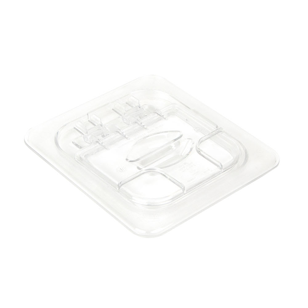 Cambro 60CWL135 FlipLid Food Pan Cover - 1/6 Size, Hinged, Clear