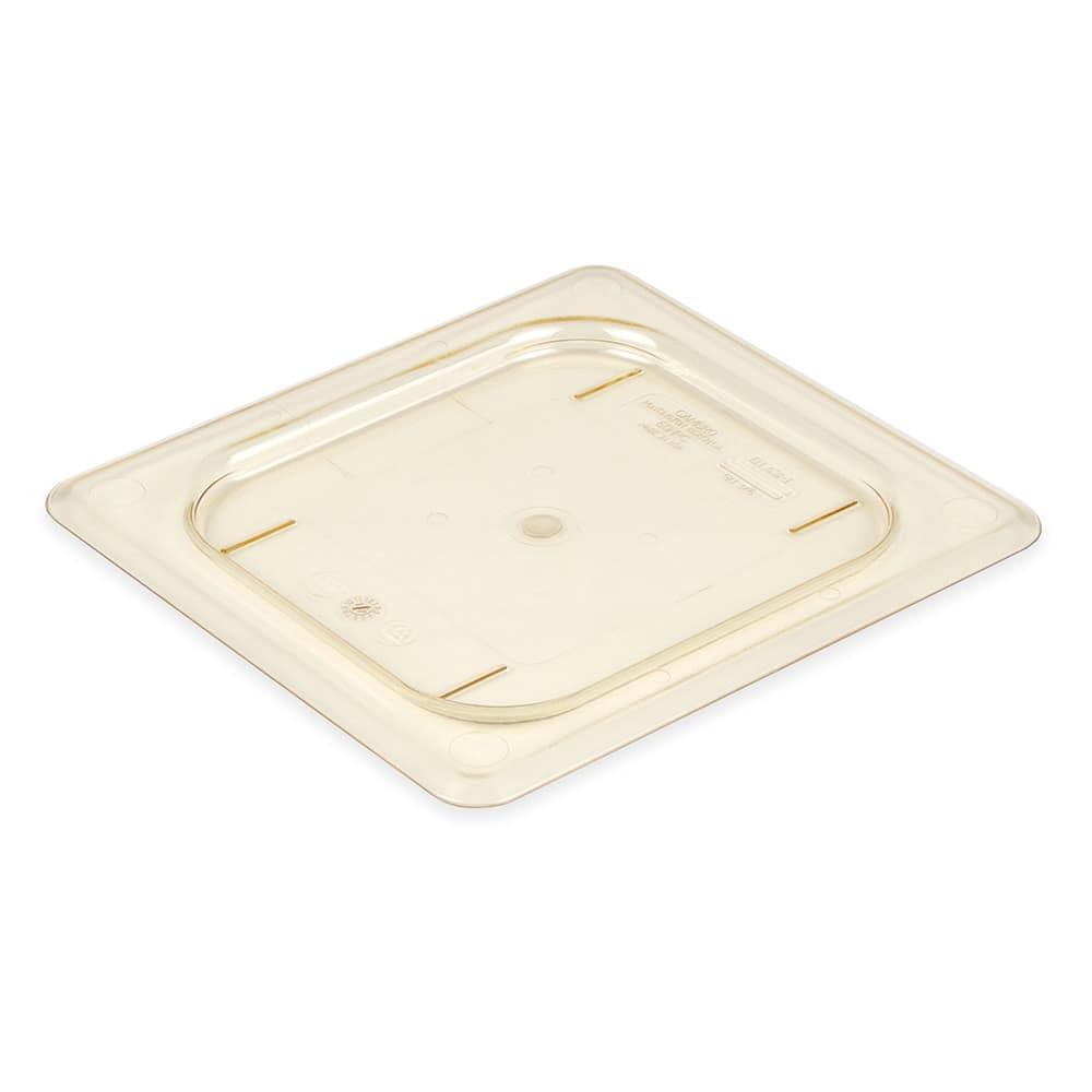 Cambro 60HPC150 H-Pan Food Pan Cover - 1/6 Size, Non-Stick, Flat, Amber