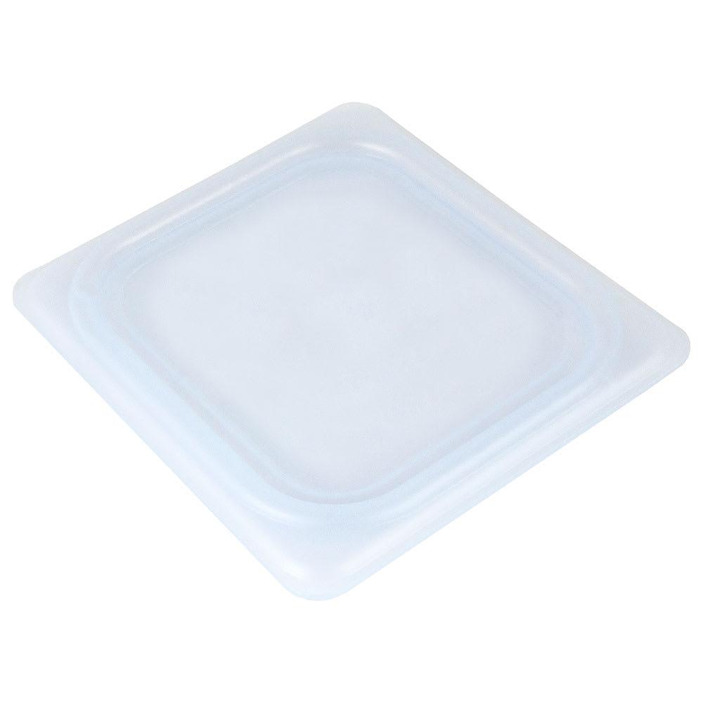 Cambro 60PPCWSC438 1/6-Size Food Pan Seal Cover - Translucent, Polypropylene, Blue, NSF
